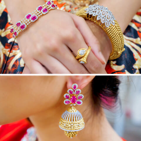 statement jewelry for indian bridesmaid