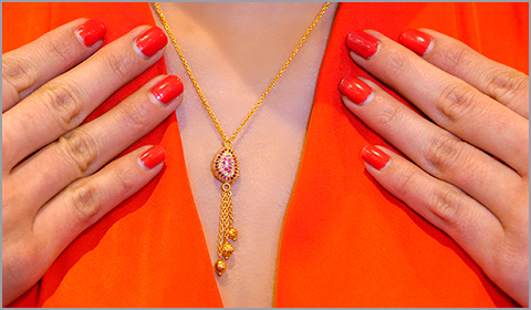 tassel cz necklace for women