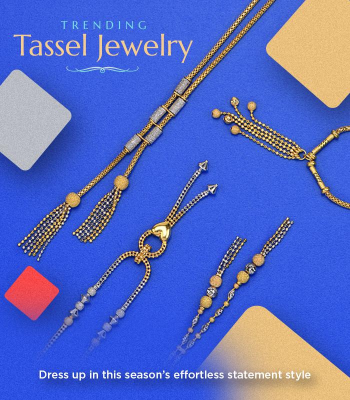 22k gold tassle necklace sets
