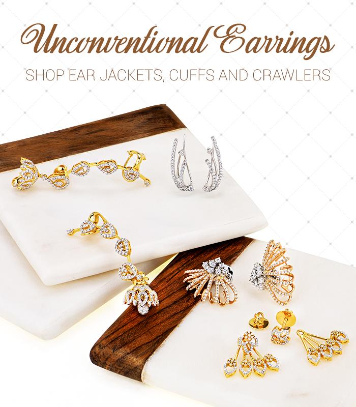 unconventional diamond earrings