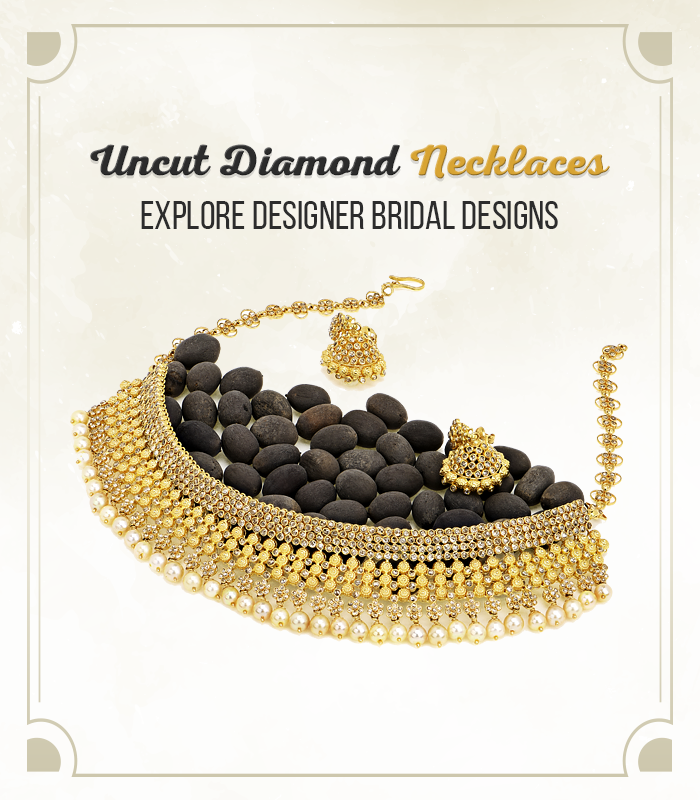 Uncut diamonds jewelry