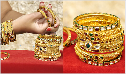 gold bangles design for Navratri