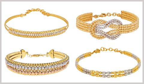 beaded gold bangle bracelets