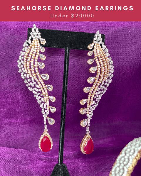 cocktail diamond earrings
