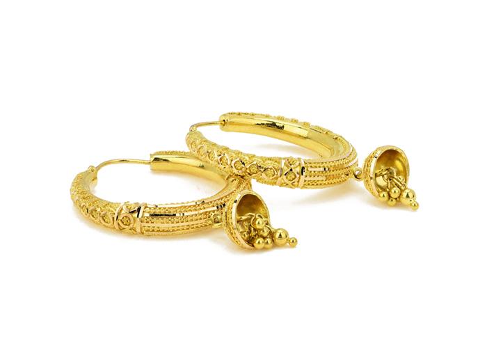 22k gold hoops