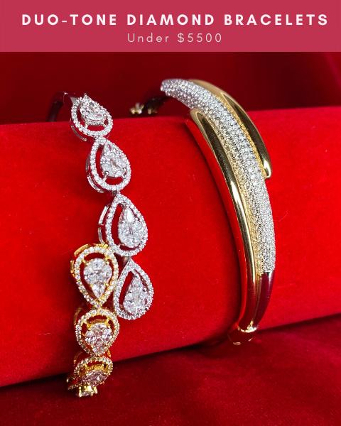 diamond bangle bracelets for cocktail dresses