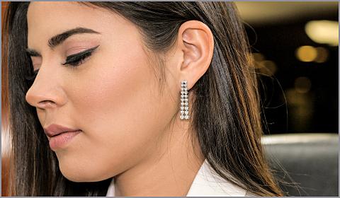 diamond earrings for work