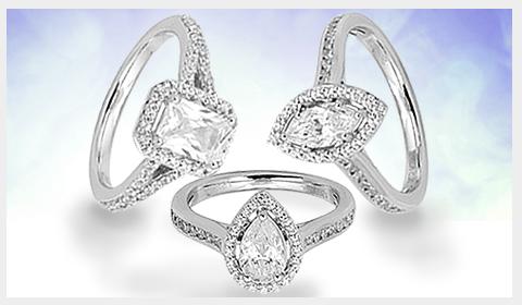 fancy center diamond enagegement rings
