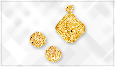 trendy jewelry filigree designs pendant set