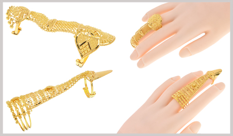 full finger gold rings