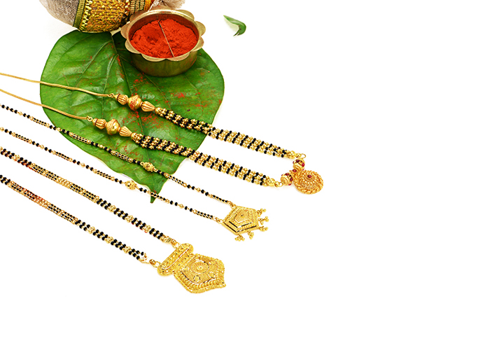 22k gold diamond mangalsutras