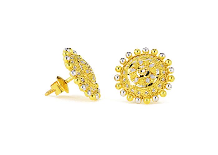 22k gold stud earrings