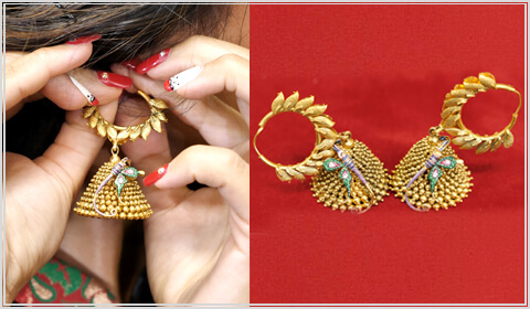 hoop jhumka design for Navratri