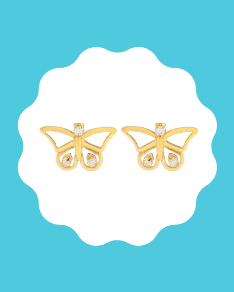 22k gold earrings for kids
