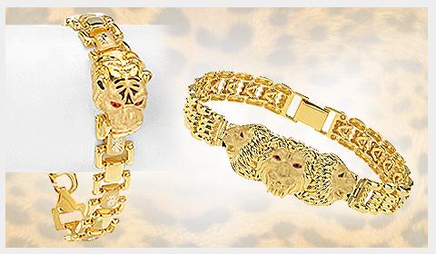 22k panther men's bracelets
