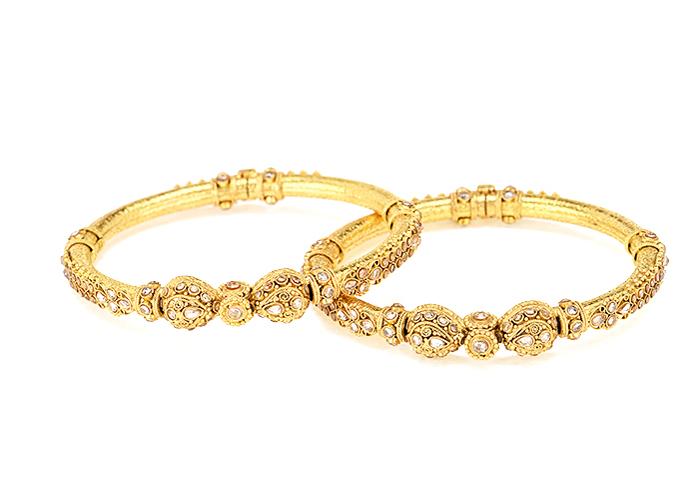 22k gold polki bangles for her