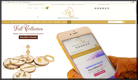 What secure payments are available when shopping for gold and diamond jewelry online?