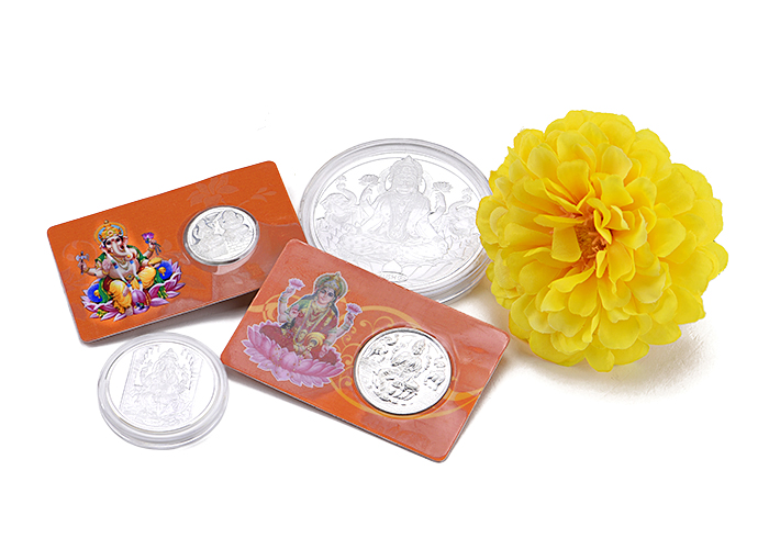 silver coins for diwali