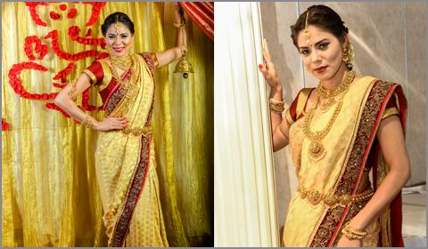 south indian bride sari