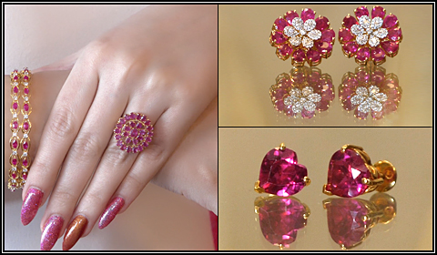 pink ruby jewelry designs