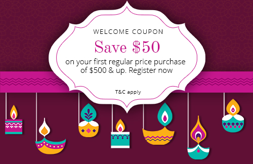 Welcome offer discount coupon: $50 off on $500