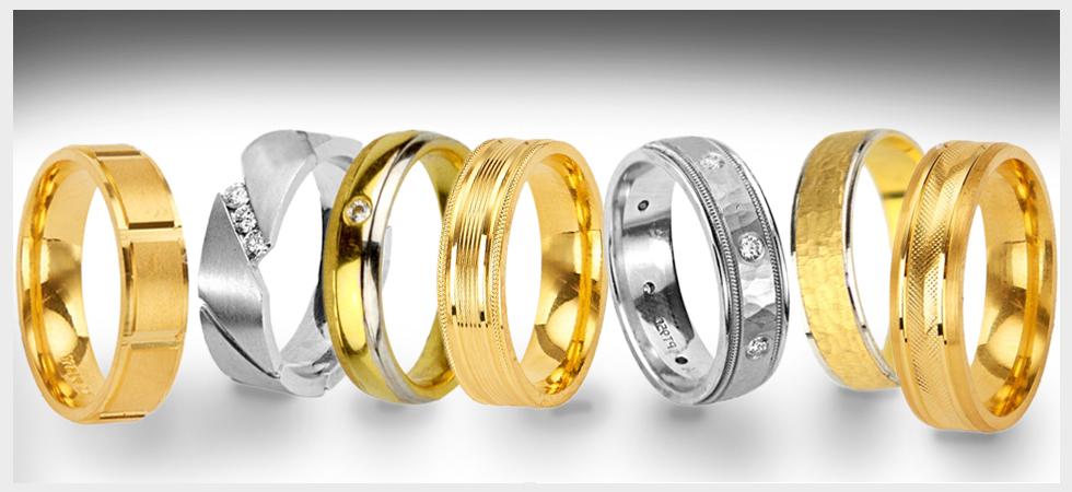 mens wedding bands types