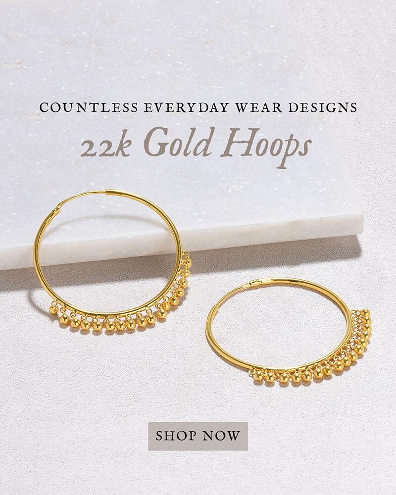 22k gold hoops designs