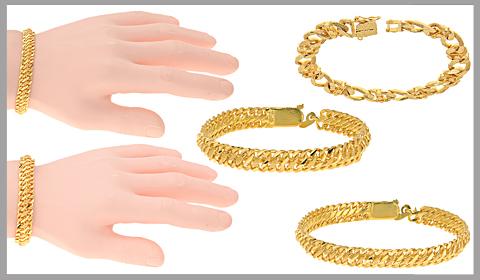 22k gold links bracelets
