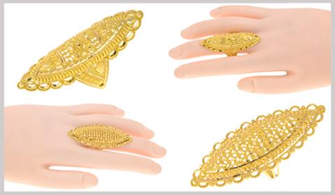chunky finger gold rings