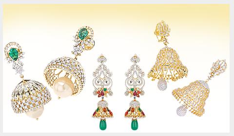 DIAMOND jhumka designs