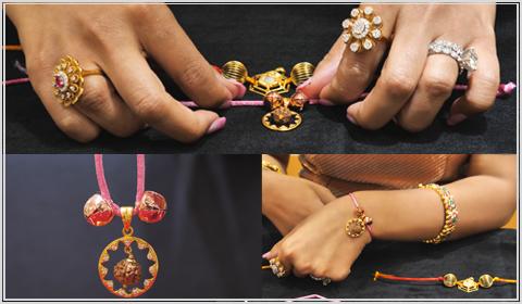 22k gold lumba DIY rakhi