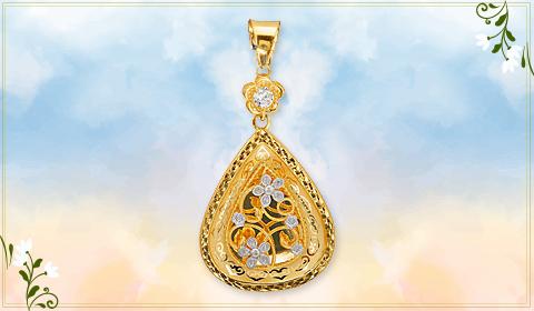 trendy jewelry floral designs pendant