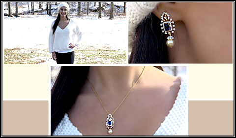 jewelry to wear with v neck sweater