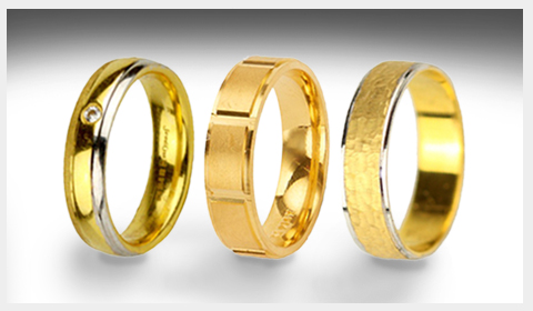 two-tone gold wedding bands for men