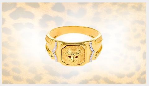 panther 22k gold ring