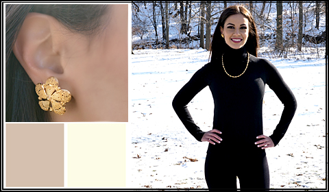 what earrings to wear with turtleneck sweater