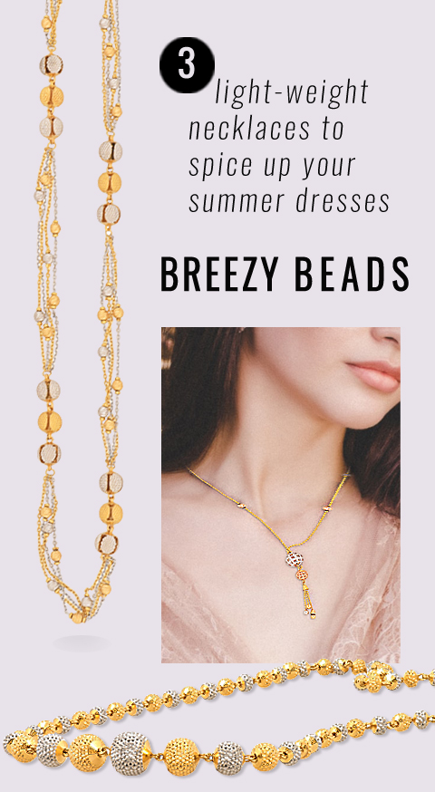 bead necklaces in 22k gold