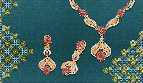 cubic zirconia 22k gold necklace