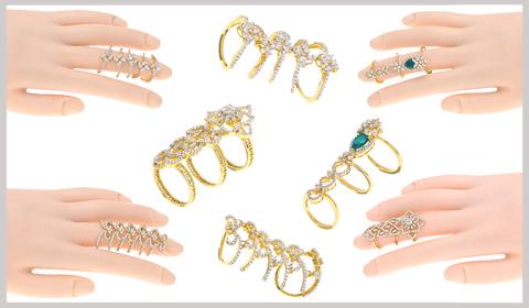 full finger diamond rings