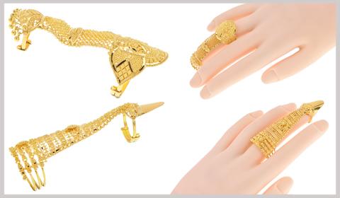 full finger gold rings