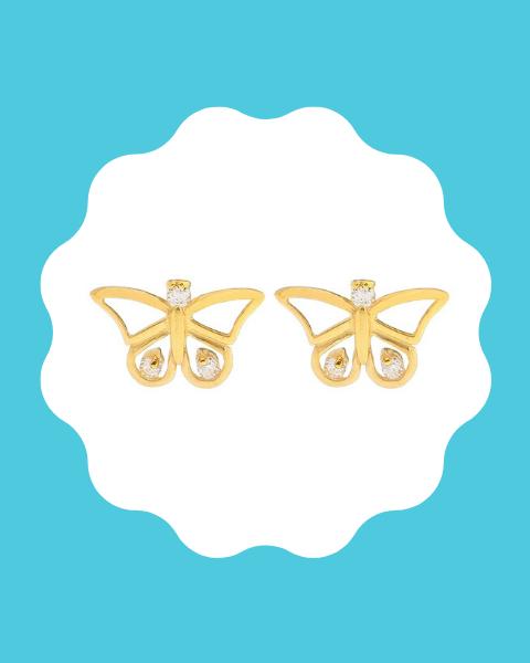 22k gold earrings for kids