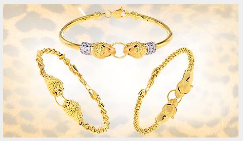 22k gold women's panther bracelets